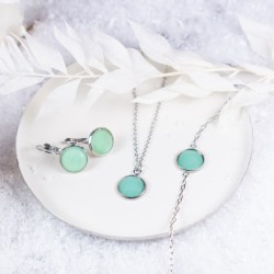Cabochonschmuckset in Mint
